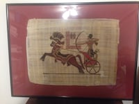 Framed Papyrus Egyptian Warrior Picture Phoenix, 85014
