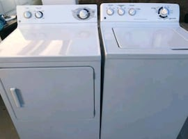GE Washer & Gas Dryer + Power cords & hoses inc.