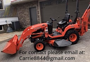 TRACTOR KUBOTA BX25 23HP DIESEL FRONT LOADER AND MORE!