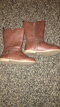 Pair of brown leather boots Kimberly, 35091