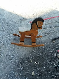 Used Brown Wooden Rocking Horse For Sale In Amelia Letgo