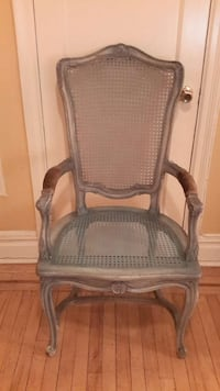 Shabby Chic French Cottage Vintage Wood Arm Chairs