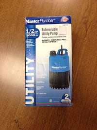 *BRAND NEW* Master pump 1/2hp Portable submersible utility pump.  Wethersfield, 06109