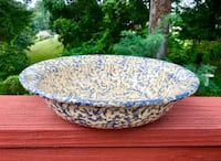 EXTREMELY RARE Large Antique Roseville Pottery RRP Co. Ceramic Serving/Fruit Bowl Falls Church, 22046
