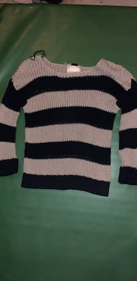 brown and black striped crew-neck sweater Conway, 29527