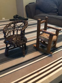 Two mini wooden rocking chairs Bremerton, 98310
