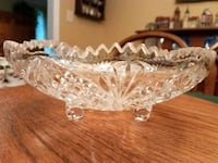 clear cut glass bowl with lid Burke