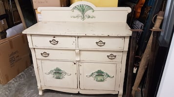 Beautiful heavy vintage hutch