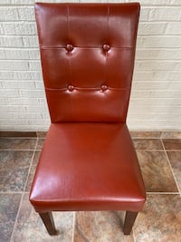 Leather Accent Chair, Rust