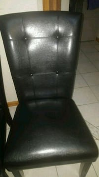 black leather padded rolling chair Queens, 11106
