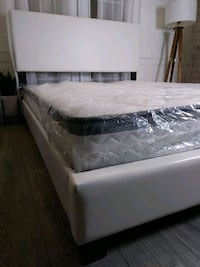 Queen Bed Frames Leather Headboard Platform Beds  Baltimore, 21229