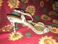 pair of gray open-toe ankle strap heels Montgomery Village, 20886
