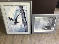 Framed picture eagle and bears plus electric knife Richmond, V6Y