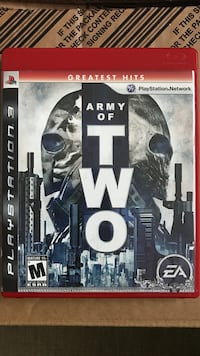 Army of two playstation 3 game Carson, 90745
