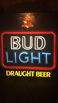 Bud Light Electric Lighted Bar Sign
