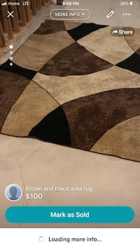 Black and brown area rug London, N6B 0A5
