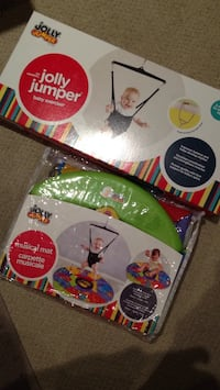 Jolly jumper and jolly jumper musical mat. Both new in the box $75 total Vancouver, V6A 1G3