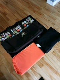 Monkey diaper bag with two changing pads