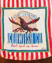 New Orleans collectible food safe crawfish tote bag