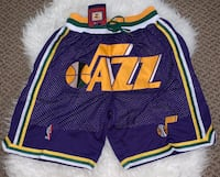 Utah Jazz Basketball Jersey Shorts