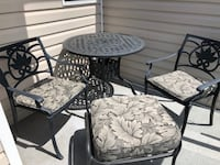 "Patio table 36"", 2 chairs, 1 ottoman, 3 cushions North Vancouver"