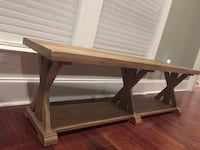 Farmhouse end of bed bench 966 mi