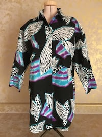 California Connection Vintage Multicolor Women's Top/Shirt Size S Overland, 63132