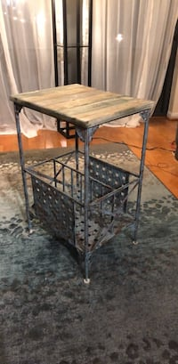 Rustic Green Accented Side Table Arlington, 22201