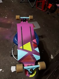 Custom land yacht longboard bear trucks 70mm hawgs