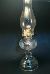 Antique Vintage 1940 Eagle Kerosene Oil Lamp Clear Glass Bee Hive  Norman, 73071