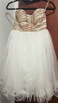 Beautiful white dress with golden sequined work Toronto