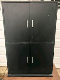 Black cabinet in good used condition. A few marks. Crystal Lake, 60014