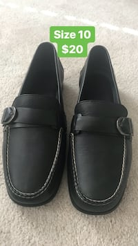 Men black leather loafers Bowie, 20716
