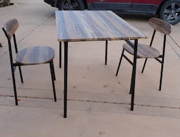 3-Piece Dining Set Table & 2 Chairs