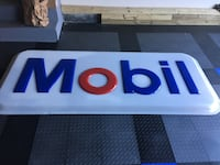 Mobil gas station sign.  8' x 3' Triangle, 22172