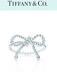 Tiffany & Co - Silver Twisted Bow Ring Vancouver, V6T 1M7