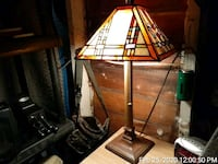 Lamp, stained glass, desk top