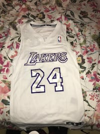 white and purple Lakers #24 Adidas jersey