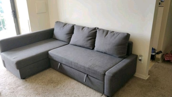 lowest price b4618 1a2ea Ikea sectional Sofa bed, couch bed with pillows