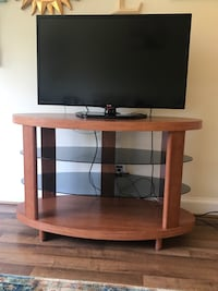 Wooden TV Stand-MOVING!! MUST GO!!!