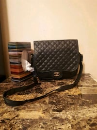 brown and black leather crossbody bag Airdrie, T4A 2G7