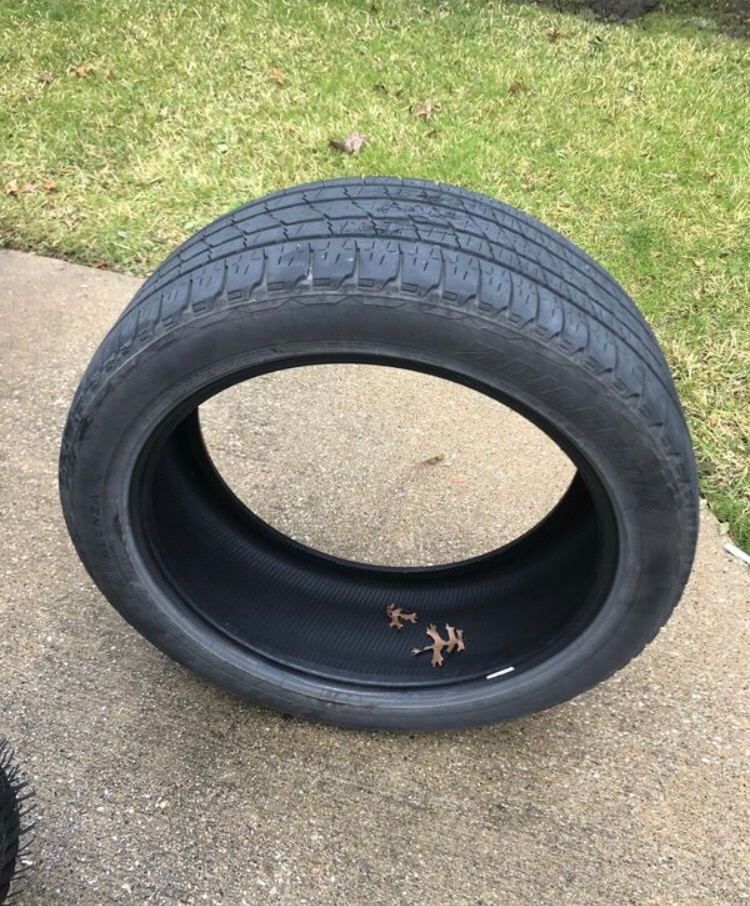 black car wheel with tire, used for sale  Richardson