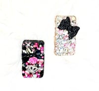 two white, pink and black crystallized cellphone cases Crestview, 32539
