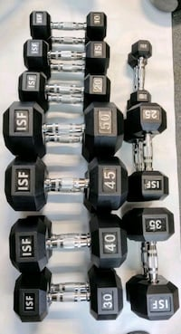 NEW Rubber Hex Dumbbells 5-50 ($520) or 55-75 $615 Bellmawr