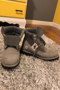 New gray Timberland boots