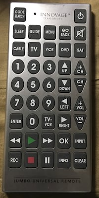 innovage products jumbo universal remote
