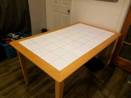 3x5 tile top wooden kitchen table