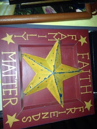 square red and yellow faith, family and friends star wall decor Greenville, 24440