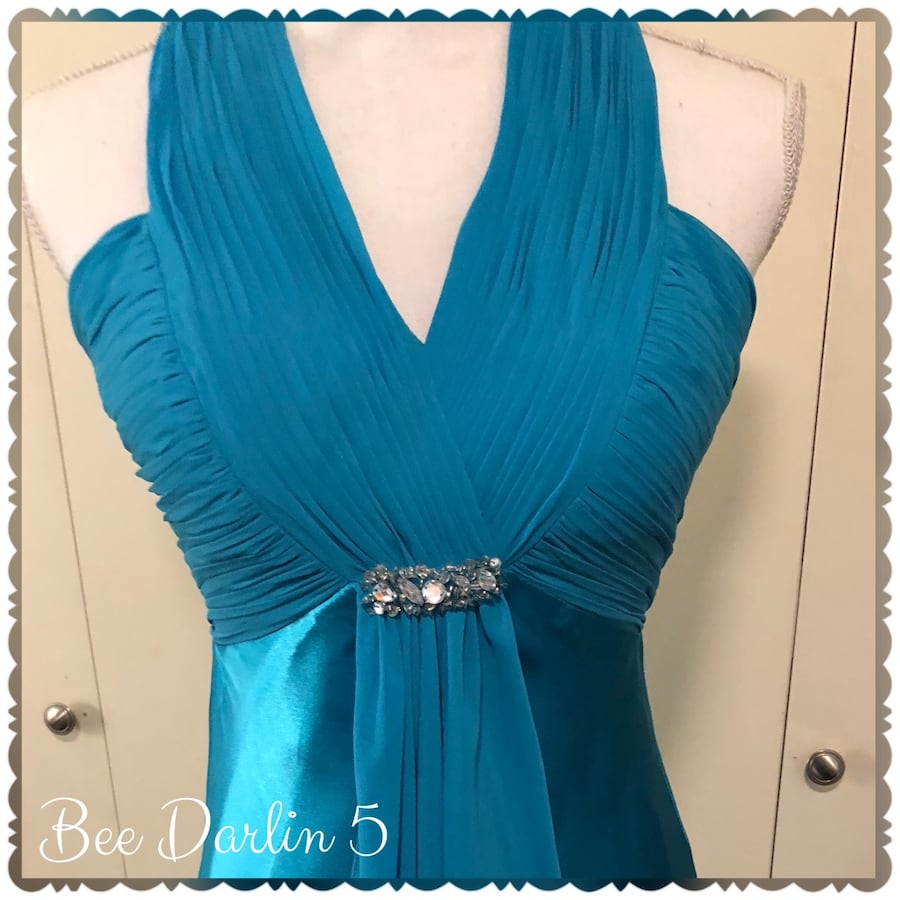 Bee Darlin Blue Formal Gown w/Beading 5/6