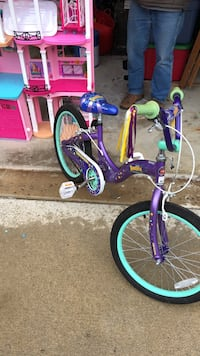 purple and green bicycle with training wheels Shelby Township, 48317